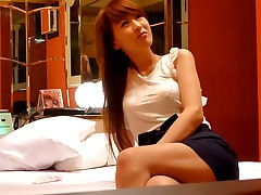These Asian amateurs` home porn begins with them teasing each other coupled with undressing to underwear. The guy fondles his hot girlfriend`s slim making coupled with pulling down her bra, reveals her tits.